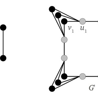 The figure shows an example of a reduction from an