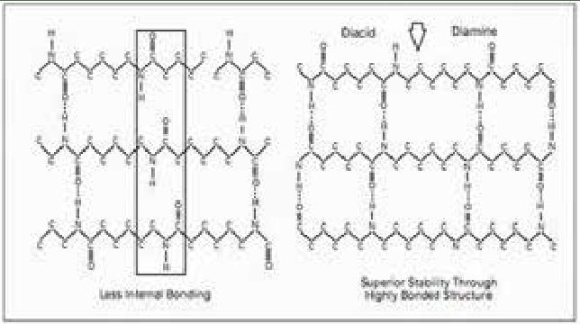 The molecular structure of Nylon-6 versus Ny- lon-6, 6