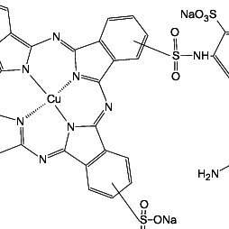 Molecular structure of the reactive dye turquoise blue 15