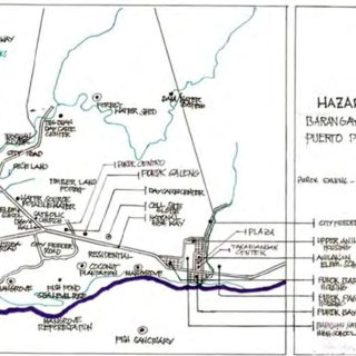 Topographic map of the city of Puerto Princesa Source