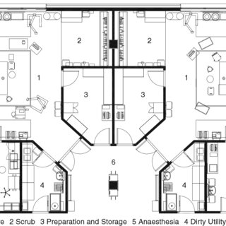 1 OR-adjacent Induction Room: Layout illustrating OR