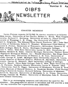 Newsletter from the organization of inland biological field stations listing charter members also rh researchgate