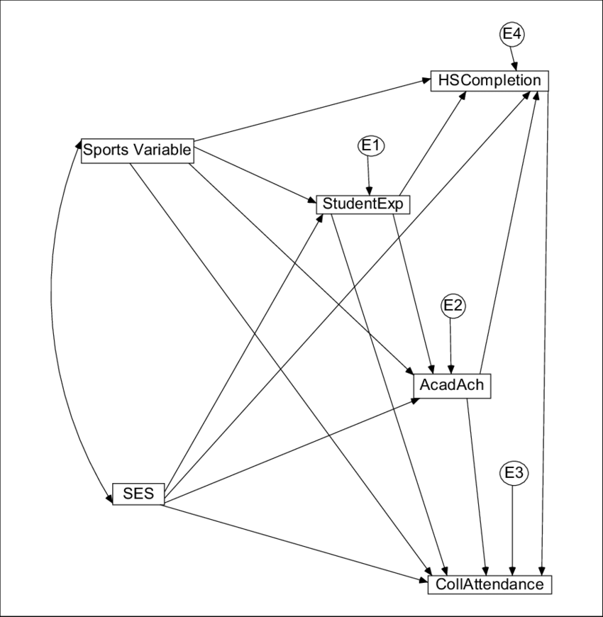 Hypothesized path model for the determinants of high
