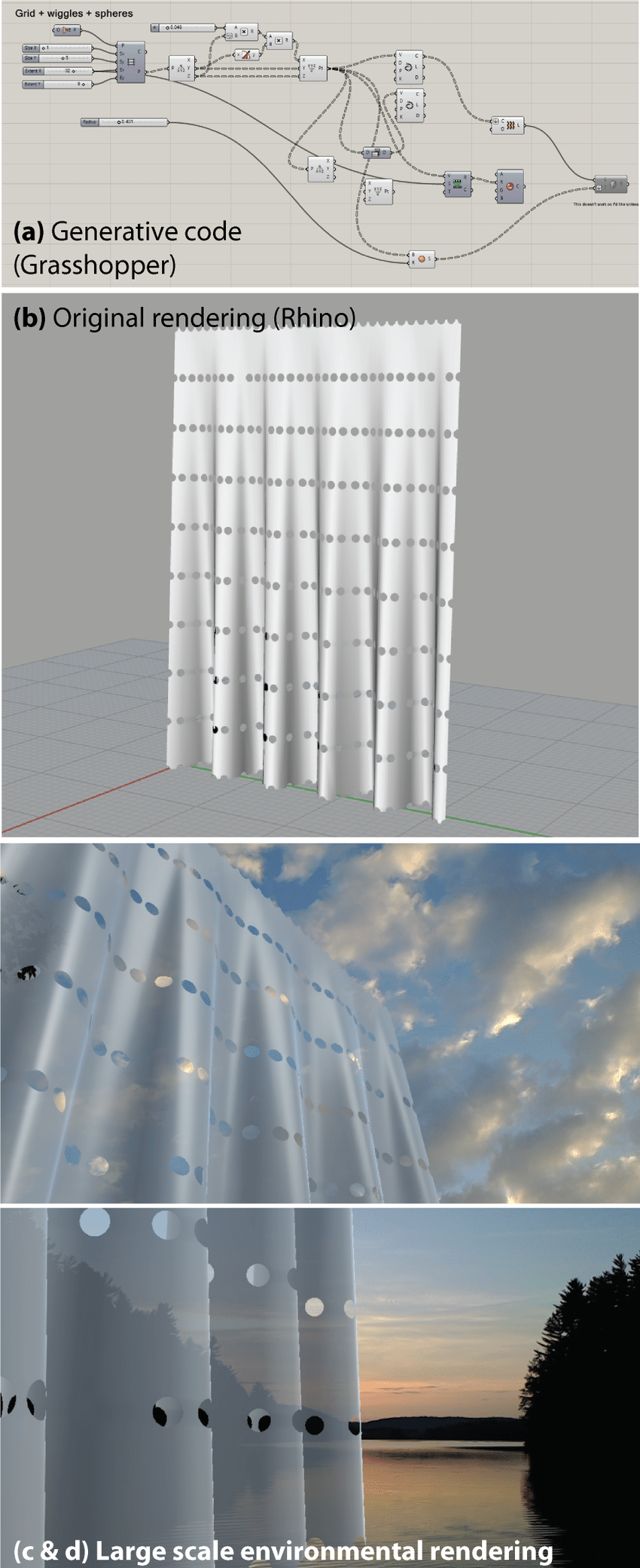 medium resolution of illustration of computational architecture using rhino and grasshopper top images and visualized on