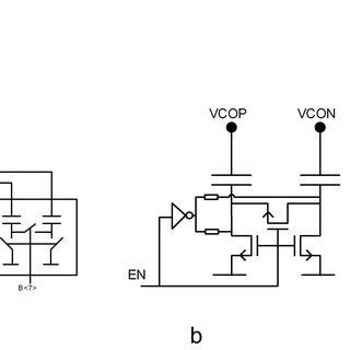 a) Oscillator implementation b) Discrete capacitor banks c