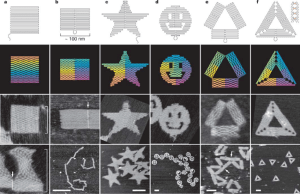   DNA origami shapes Top row, folding paths a, square; b, rectangle;   Download Scientific