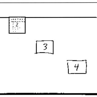 An example of a written problem in which three blocks of