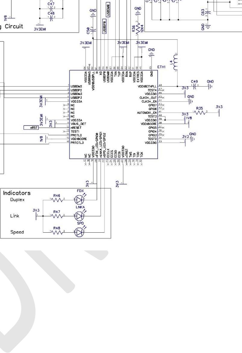 medium resolution of lan and usb schematic