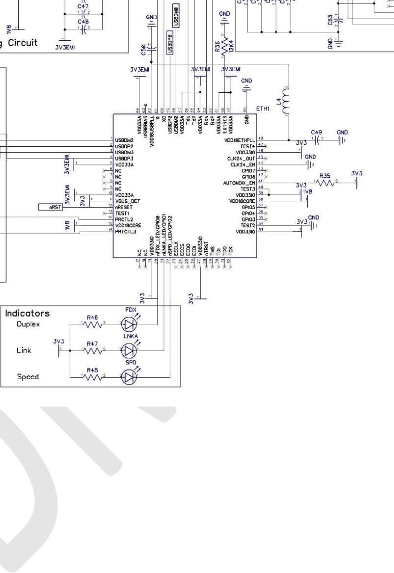 hight resolution of lan and usb schematic