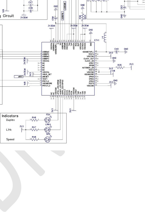 small resolution of lan and usb schematic