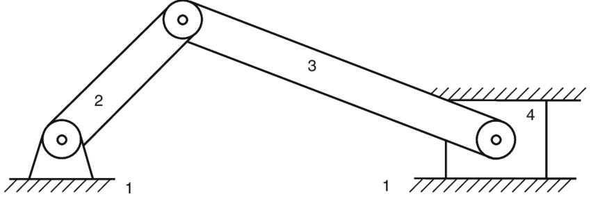 20 Schematic representation of a planar slider-crank