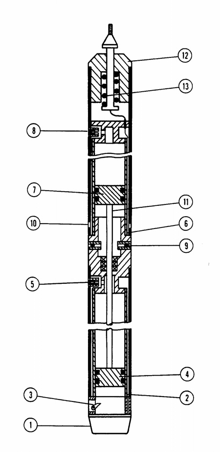 Schematic diagram of the ETB-5 electro-thermal core drill