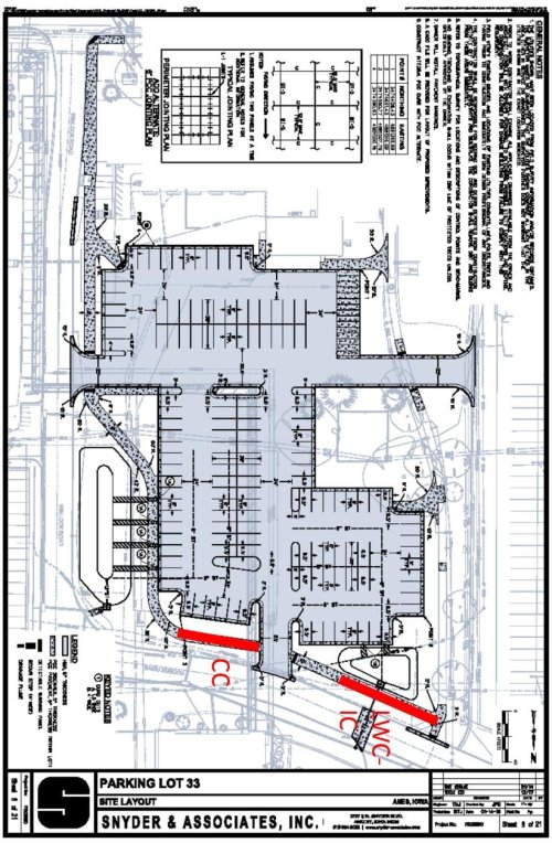 small resolution of site plan of the constructed sidewalk