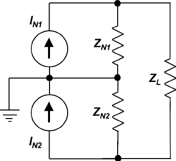 Equivalent Norton circuit for the mirrored modified