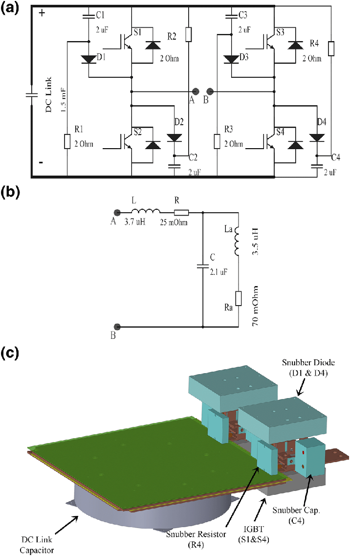 medium resolution of  a schematic of the igbt based h bridge voltage source inverter circuit