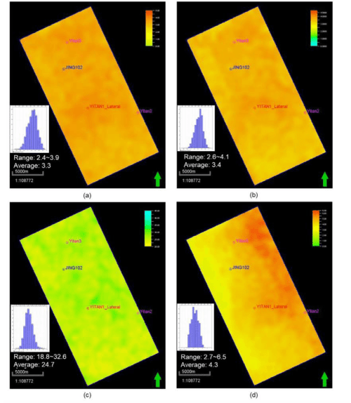 small resolution of map of average 3d shared earth model reservoir properties in wufeng to l113 a