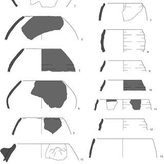 Characteristic pottery types at Tell Sabi Abyad. 1–11