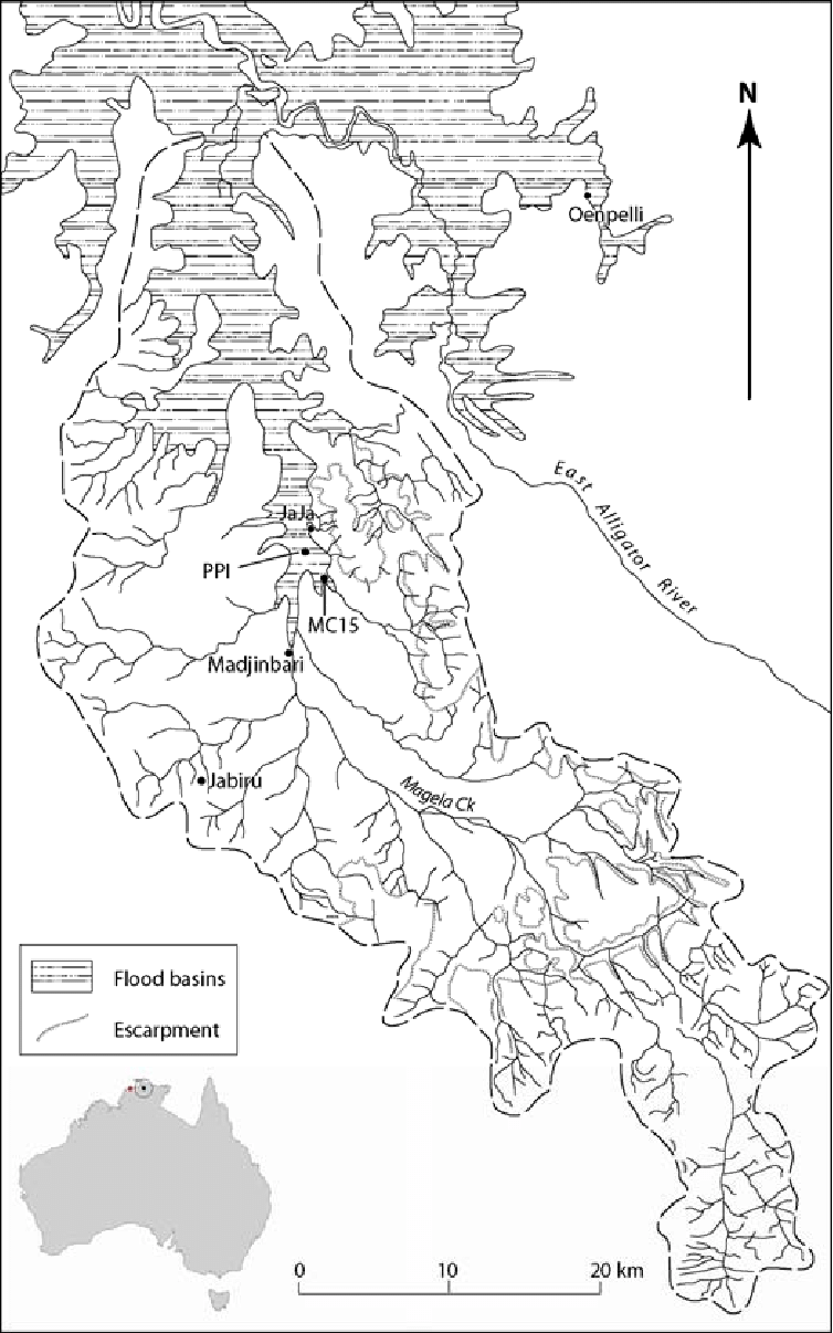 Location Map of Magela Creek catchment and floodplain