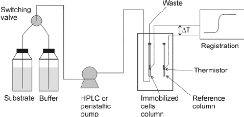 Using flow calorimeter as a monitoring device for