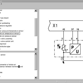 Wiring diagram of a forklift accelerator pedal circuit