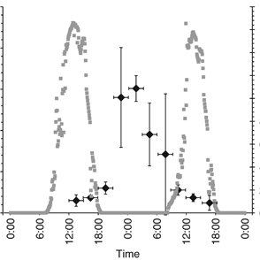 Nitrogenase activity measured in a diel cycle on 21/22