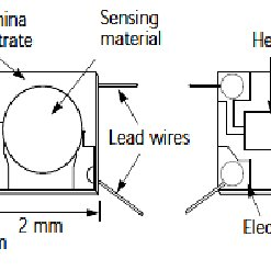 Structure of metal oxide gas sensor using a solid