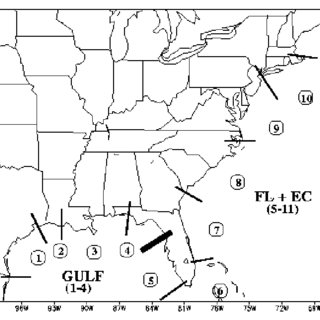 Track of Tropical Storm Danny. Figure courtesy of Weather