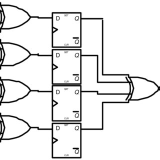 1: A 4 bit ripple counter circuit. The output of one flip