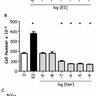 Involvement of p38/MAPK in E2- and Nar- control of ER a
