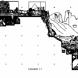 Example of 2D AutoCAD map from the tacheometric survey of