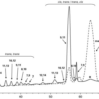 FAME profile by GC-MS of the dimethyloxazoline (DMOX