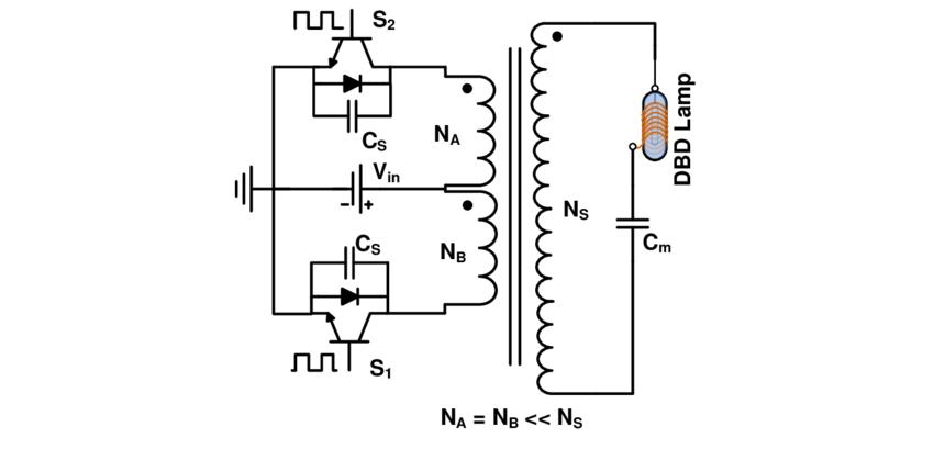 68 Pulsed power supply circuit schematic diagram (push