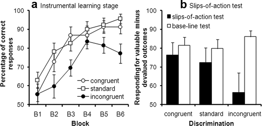 Behavioral performance on the instrumental task. a shows