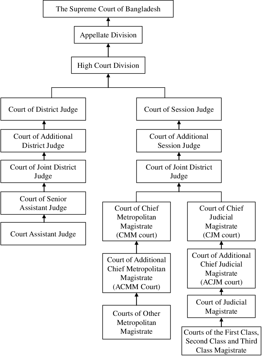 medium resolution of hierarchical structure of the ordinary courts