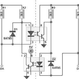 Level Shifter in I2C Bus using N-channel enhancement MOS