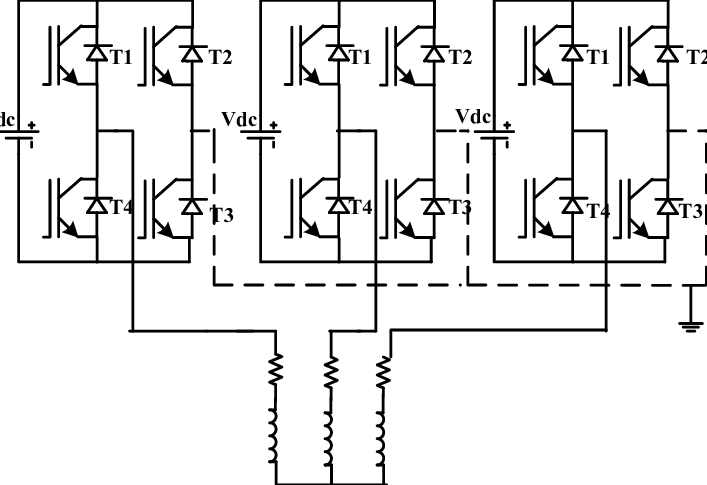 Schematic of three level three phase H-bridge Inverter II