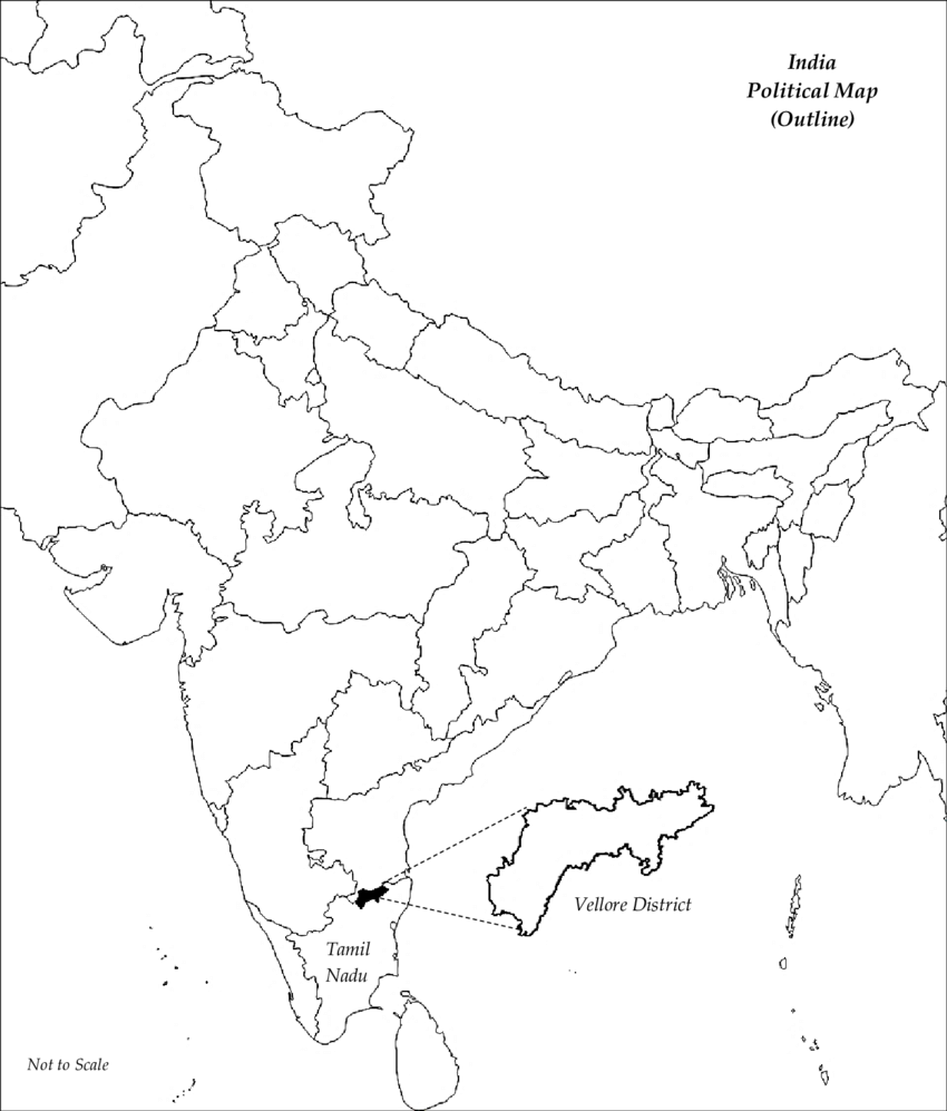 Location of the study area (Vellore District, Tamil Nadu