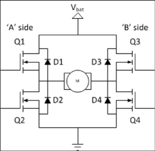 H-Bridge Diagram Generally bi-polar or FET transistors(Q1