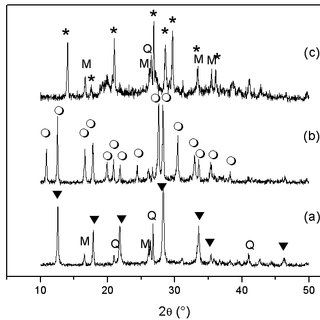 XRD patterns of zeolites synthesized from fly ash by