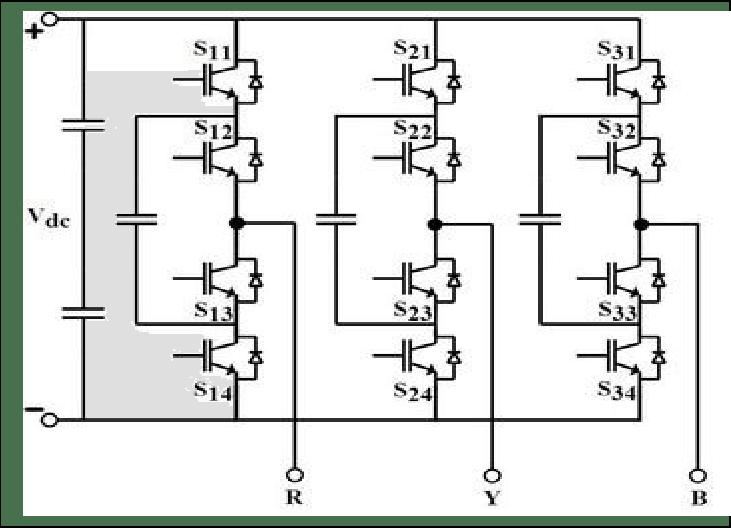 Three-Phase Three-Level Flying Capacitor Inverter Topology