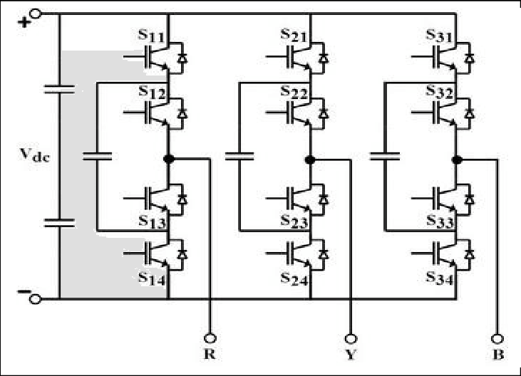 Three-Phase Three-Level Flying Capacitor Inverter Topology