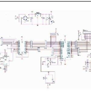 Circuit diagram of GSM based noninvasive glucose