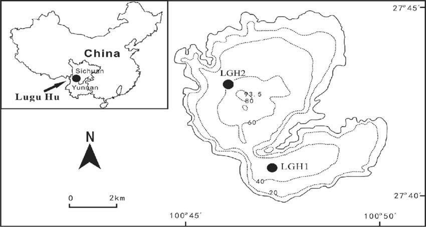 lake sedimentation diagram