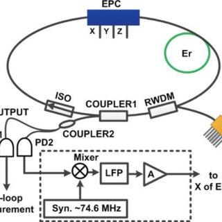 Experimental setup. EPC, electronic polarization