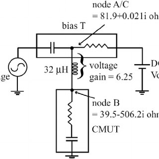 Simplified electrical circuit used for driving the HIFU
