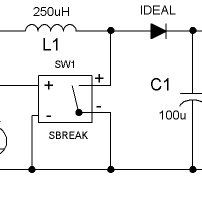 Simple PSpice circuit using a digital switch and ideal