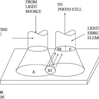 Arrangement of an optical fiber Y-guide (bifurcated bundle