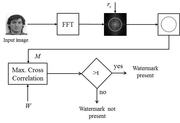 Block diagram of the detection process using the Fourier