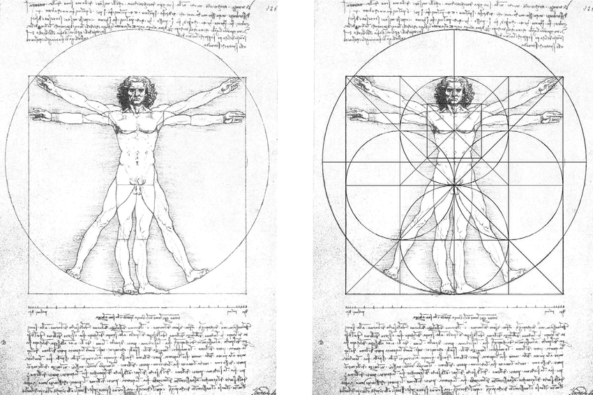 Image: Canon of proportions from Vitruvius's De