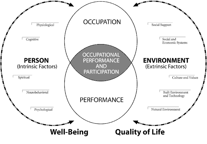 Person, Environment, Occupation Performance Model